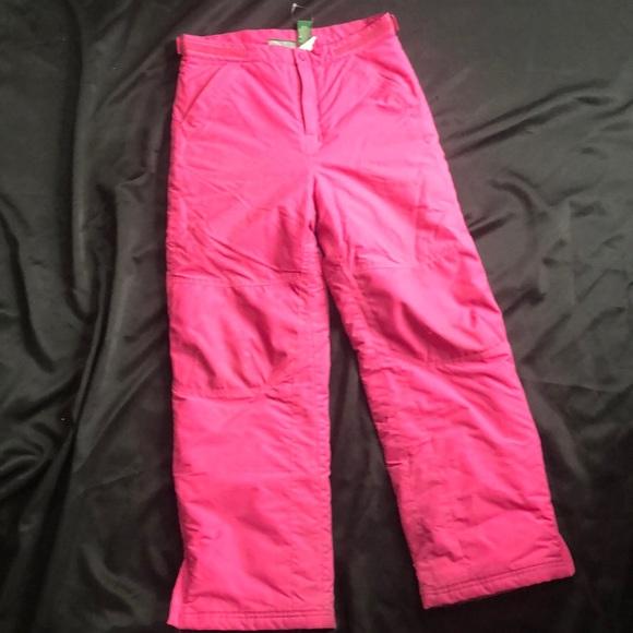 LL Bean girls snow pants
